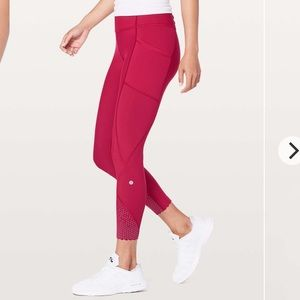 "Lululemon Tight Stuff Tight II *25"" Ruby Red"